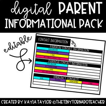 Back to School Digital Parent Information Pack