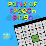 Digital Parts of Speech Bingo (Google Classroom)