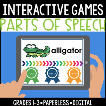 Interactive, Digital and Paperless Parts of Speech Games