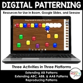 Digital Pattern Activities - Boom, Seesaw, and Google Slid
