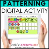 Digital Pattern Activities Google Slides™ Seesaw™ Distance