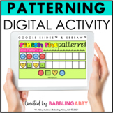 Digital Pattern Activities Google Slides™ Seesaw™ Distance
