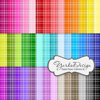 Digital Pattern Scrapbooking Paper Set, 42 Digital Papers