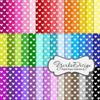Digital Pattern Scrapbooking Paper Set, 42 Digital Papers