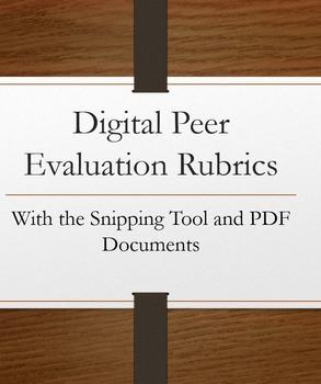 Digital Peer Evaluation Rubrics