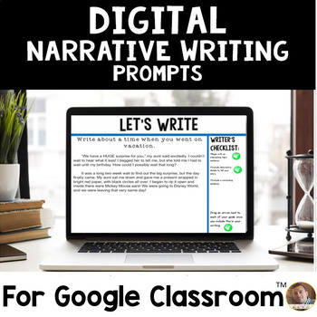 Digital Personal Narrative Writing Prompts for Google Classroom