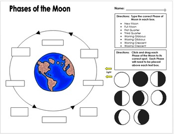 Digital Phases of the Moon Activity