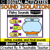 Sound Isolation Boom Cards   Phonemic Awareness Boom Cards