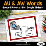 Digital Phonics Activities - AU and AW 1st Grade Phonics