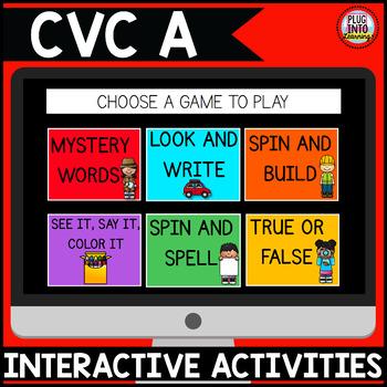 Digital Phonics Activities: CVC A Words
