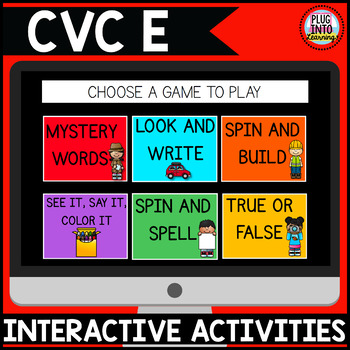 Digital Phonics Activities: CVC E Words