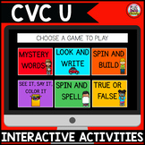 Digital Phonics Activities: CVC U Words