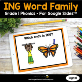 Digital Phonics Activities Google Slides - ING Words Grade 1