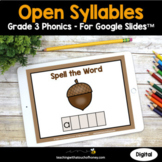 Digital Phonics Activities Google Slides - Open Syllables