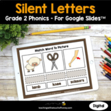 Digital Phonics Activities Google Slides - Silent Letters Grade 2