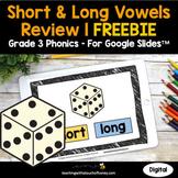 Digital Phonics Activities - Short and Long Vowels 3rd Grade Phonics FREEBIE