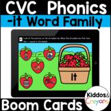 Digital Phonics Activity -it Word Family Short I CVC Words Boom Cards