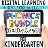 Digital Phonics Bundle for Kindergarten with BOOM CARDS  