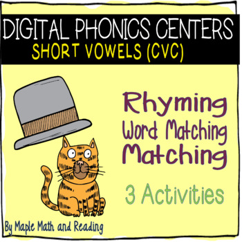 Digital Phonics Centers (Short Vowel CVC)-Interactive PDFs