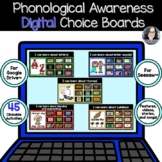 Digital Phonics Choice Boards for Google Classroom or Sees