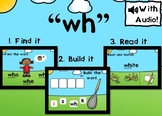 """Digital Phonics Game for Digraph """"wh"""" Boom Cards™"""