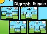 Digital Phonics Games Bundle for Digraphs Boom Cards™