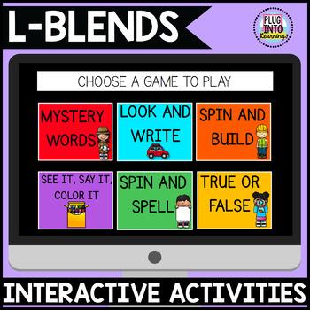 Digital Phonics Activities: L-BLENDS