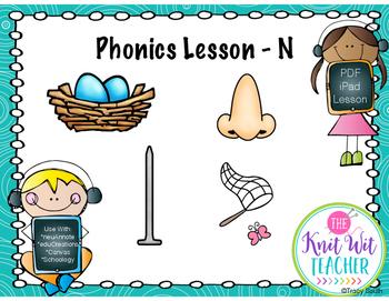 Digital Phonics Lesson - Letter N