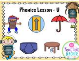 Digital Phonics Lesson - Letter U