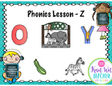 Digital Phonics Lesson - Letter Z