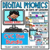 Digital Phonics Lessons CVC BUNDLE Slides Distance Learning