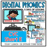 Digital Phonics Lessons CVC SHORT E Slides