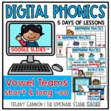 Digital Phonics Lessons for Vowel Teams Short and Long OO Slides