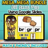 Google Drive Digital Phonics & Math BUNDLE for Google Classroom