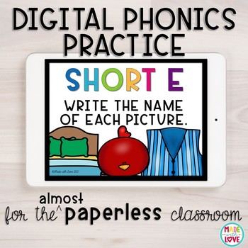 Digital Phonics Practice: Short e