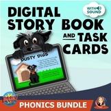 Digital Phonics Boom Cards Practice Storybook Bundle