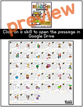 Digital Phonics Reading Passages for Google Drive™