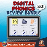 Digital Phonics Review Bundle Task Cards for Distance Learning
