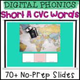 Digital Phonics Short A CVC Word Reading and Spelling Slides