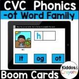 Digital Phonics Task Cards -ot CVC Word Family Short O Phonics