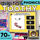Digital Phonics Toothy ® Task Cards Bundle | Phonics Inter
