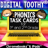 Digital Phonics Toothy ® Task Cards Bundle | Phonics Inter