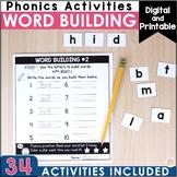 Digital Phonics Word Building  - distance learning Seesaw & Google + printables