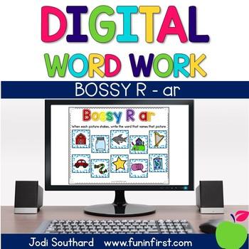 Digital Phonics Word Work - Bossy R-ar