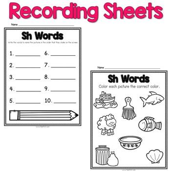 Digital Phonics Word Work - Digraph Bundle