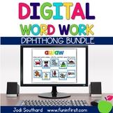 Diphthong Digital Phonics Word Work Bundle