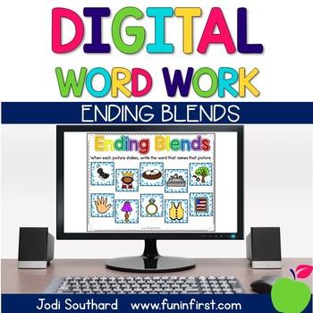 Digital Phonics Word Work - Ending Blends