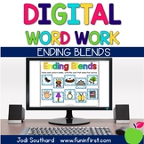 Digital Phonics Word Work - Ending Blends