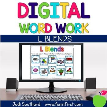 Digital Phonics Word Work - L Blends