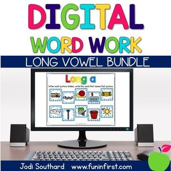 Digital Phonics Word Work - Long Vowel Bundle